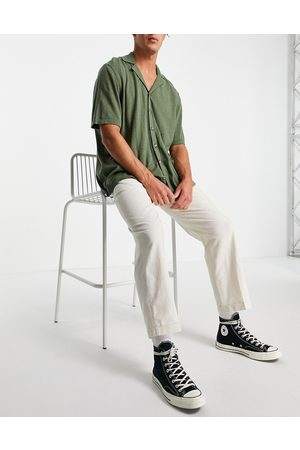 SELECTED Muži Chino - Linen trousers loose fit white