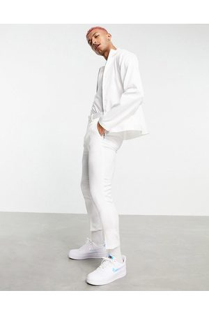 ASOS Co-ord smart tapered trousers in white high shine