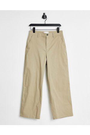 ASOS Wide fit chinos in beige-Brown