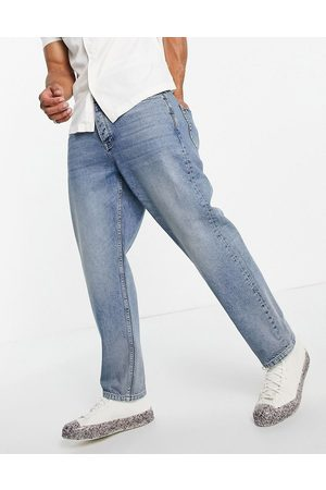 Topman Relaxed jeans mid wash-Blue