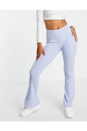 ASOS Jersey suit low rider baby kick flare trousers in lavender blue