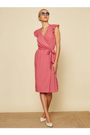 Zoot Růžové zavinovací šaty Francine