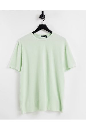 ASOS Relaxed fit t-shirt in heavyweight rib in light green
