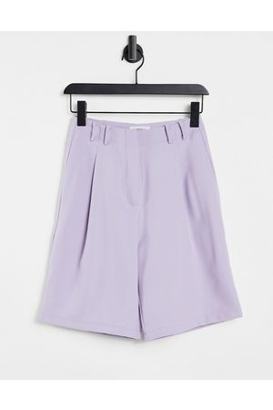 Ghospell Tailored bermuda shorts in lilac co-ord-Purple