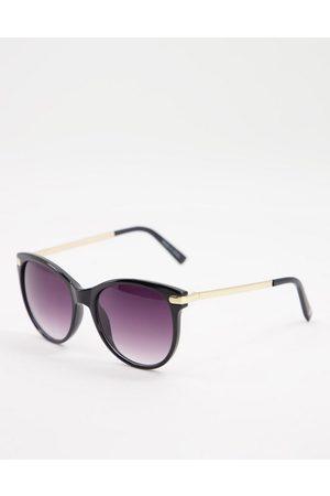 Accessorize Rubee flat top oversize sunglasses in black