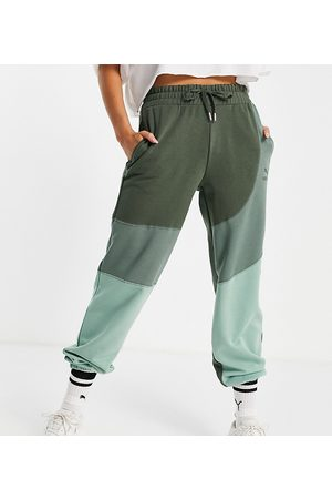 PUMA Convey oversized joggers in green colourblock exclusive to asos
