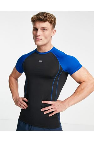 ASOS Muscle fit training t-shirt with contrast raglan-Black