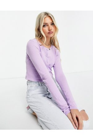 Pieces Ženy S dlouhým rukávem - Maiken long sleeve cropped cardigan in orchid bloom-Purple