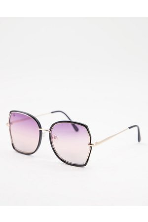 Jeepers Peepers Unisex oversized square sunglasses in gold