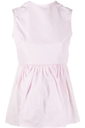 Cecilie Bahnsen Open-back sleeveless blouse