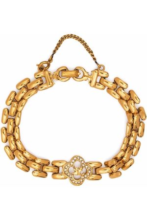 Courrèges 1980s chain-link rhinestone-embellished bracelet