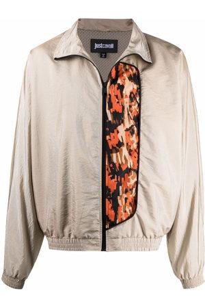 Roberto Cavalli Contrasting-panel jacket