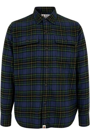 A BATHING APE® Shark Flannel Check shirt