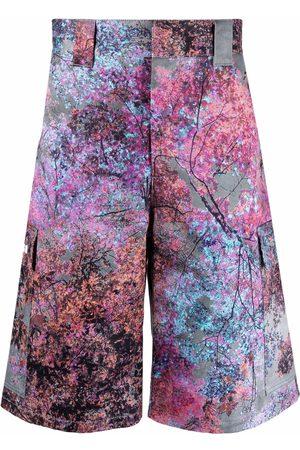 Msgm Graphic-print bermuda shorts