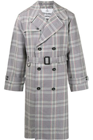 Vivienne Westwood Checked double-breasted trench coat