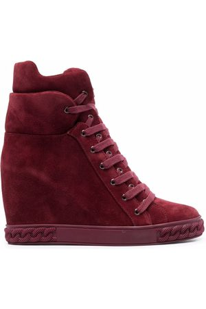 Casadei Lace-up wedge sneakers