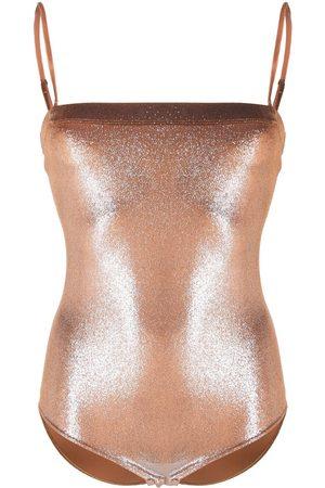 FORTE FORTE Metallic square-neck body