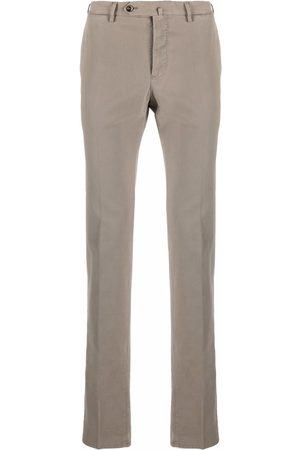 Pt01 Stretch-cotton slim trousers