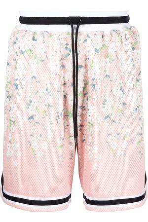 John Elliott Game floral-print mesh shorts
