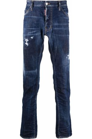 Dsquared2 Muži Rovné nohavice - Ripped-detail straight-leg jeans