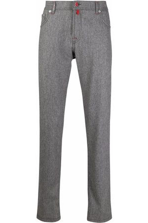 Kiton Contrast-stitching straight trousers