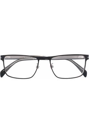 DB EYEWEAR BY DAVID BECKHAM Matte-effect rectangle-frame glasses