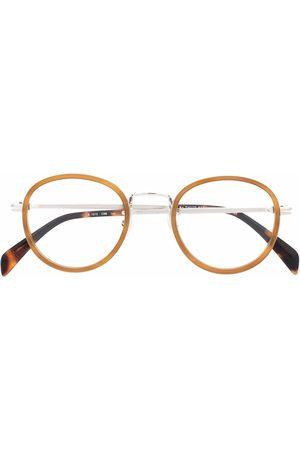 DB EYEWEAR BY DAVID BECKHAM Muži Sluneční brýle - Tortoiseshell round-frame glasses