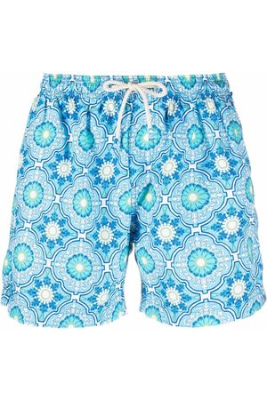 PENINSULA SWIMWEAR Anacapri Mediterranean-print swim shorts