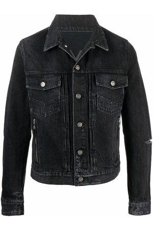 Balmain Muži Džínové bundy - Ripped detail denim jacket