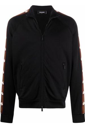 Dsquared2 Muži Bombery - Logo zipped bomber jacket