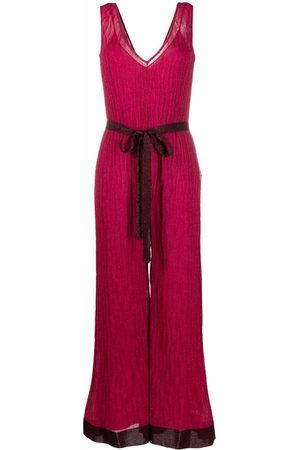 M Missoni Metallic-knit V-neck sleeveless jumpsuit
