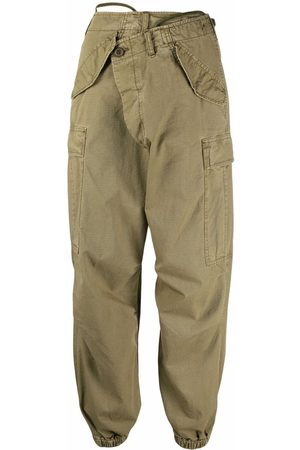 R13 Wrap-fastening cargo trousers