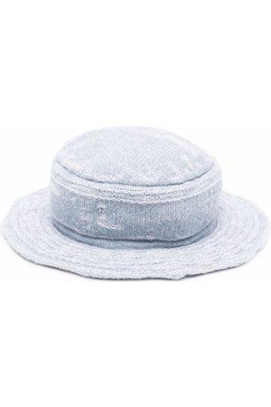 Barrie Ženy Klobouky - Distressed denim bucket hat