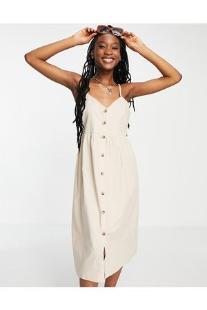 Influence Ženy Volnočasové - Button down beach dress in sand-Brown