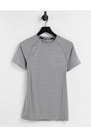 ASOS Muscle fit training t-shirt in space dye in grey