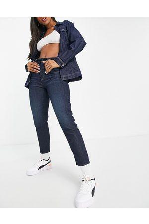 G-Star Janeh ultra high mom jeans in dark wash blue