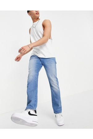 G-Star Muži Rovné nohavice - 3301 straight tapered jeans in mid wash-Blue