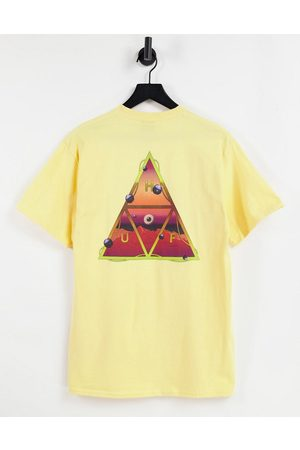 Huf Altered state back print t-shirt in yellow