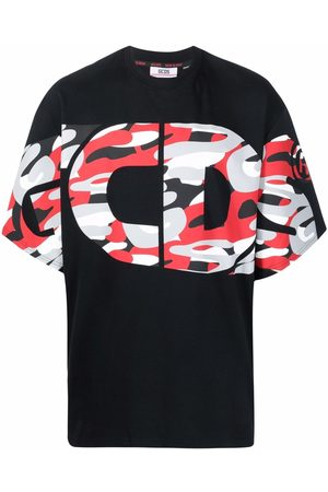 Gcds Muži S krátkým rukávem - Logo-print cotton T-shirt