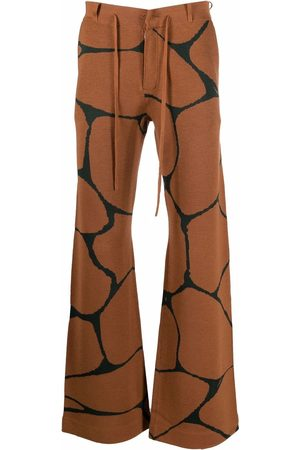 Karl Lagerfeld X Kenneth Ize knit trousers