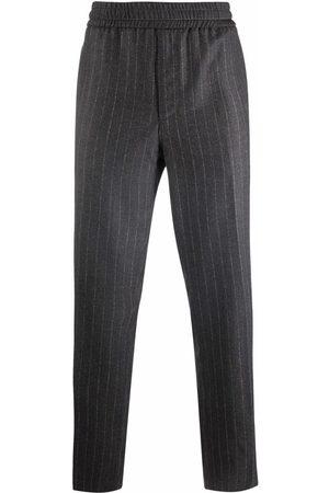 Salvatore Ferragamo Muži Rovné nohavice - Pinstripe straight-leg wool trousers