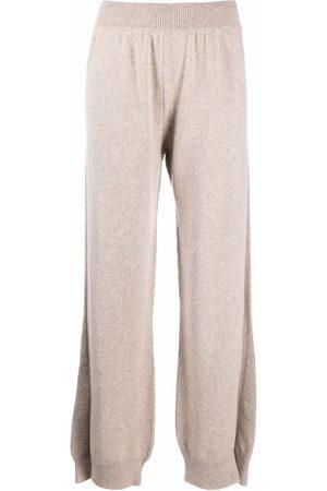 Barrie Ženy Legíny - Side-slit cashmere trousers