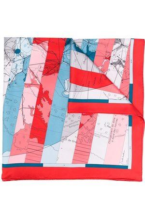 Hermès 1990s pre-owned Le Monde Est Vaste scarf