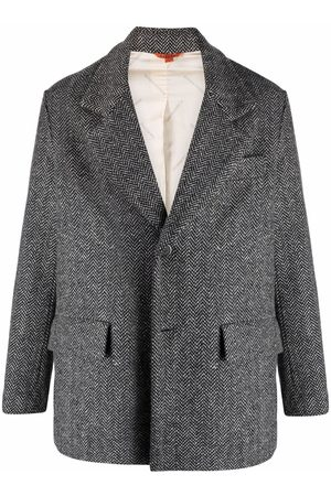 BARENA Muži Saka - Herringbone-pattern blazer