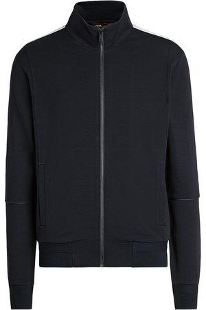 Z Zegna Stripe-trim merino-blend jacket