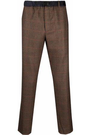 PT01 Check straight-leg trousers