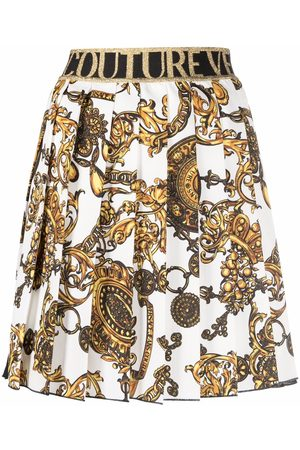 VERSACE Ženy S potiskem - Barocco-print pleated skirt