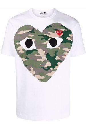 Comme des Garçons Almond-eyed heart T-shirt