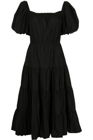 Jason Wu Ženy Midi - Tiered short-sleeve midi dress