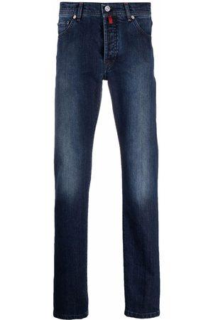 Kiton Stonewashed straight-leg jeans